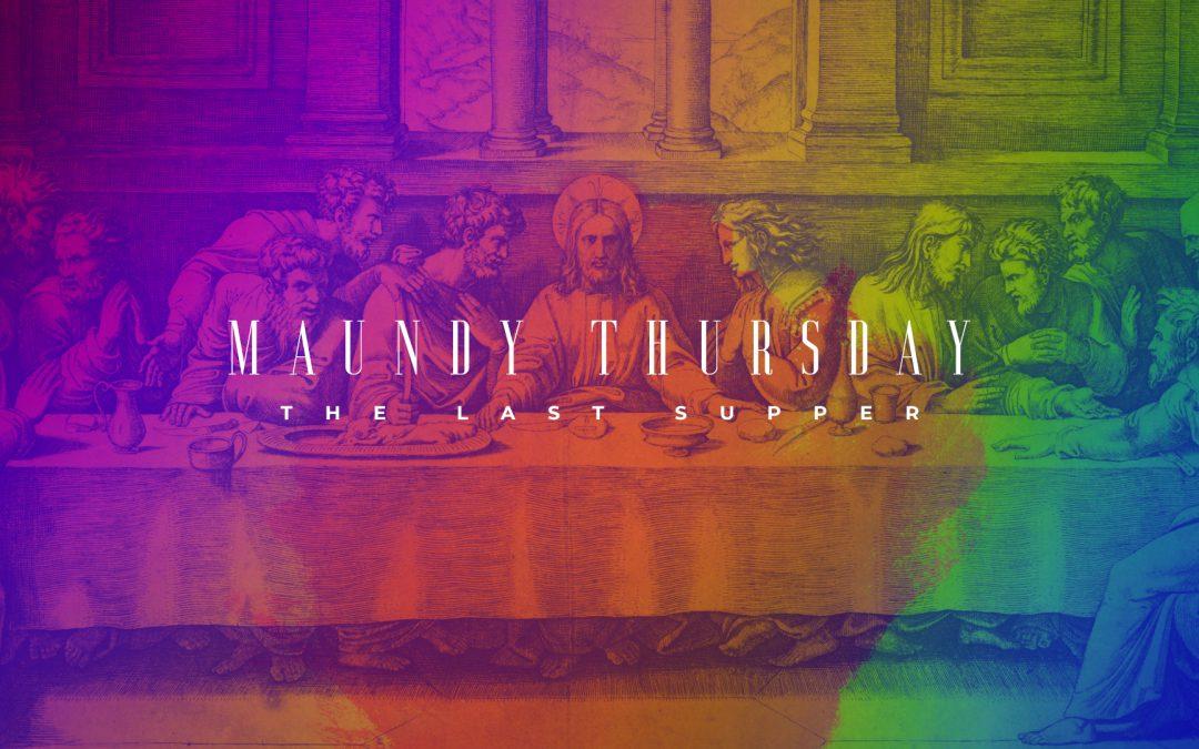 Maundy Thursday Rainbow Last Supper-Subtitle