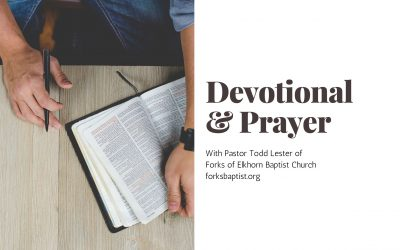 Wednesday Devotional & Prayer