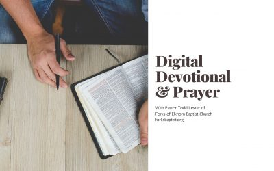 Wednesday Devotional: April 1, 2020