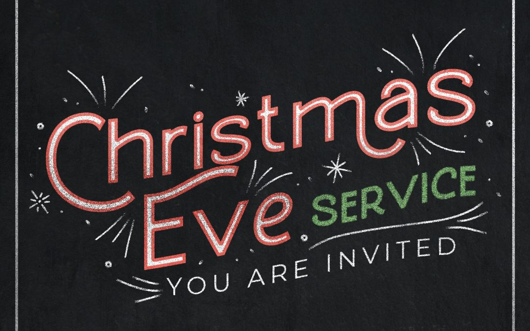 Christmas Eve Service Chalkboard Red Green White – Title