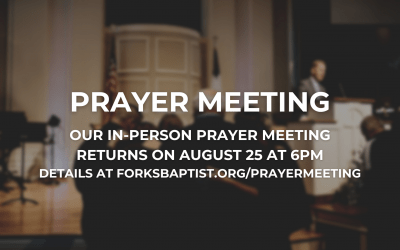 Prayer Meeting (In-Person!)
