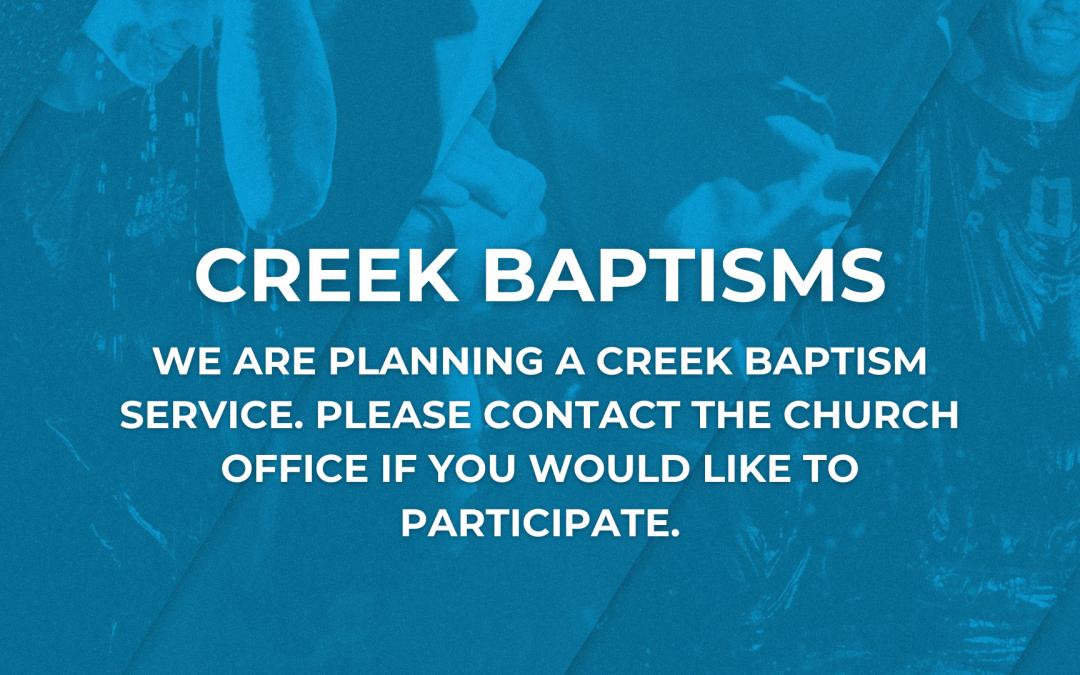 Creek Baptisms